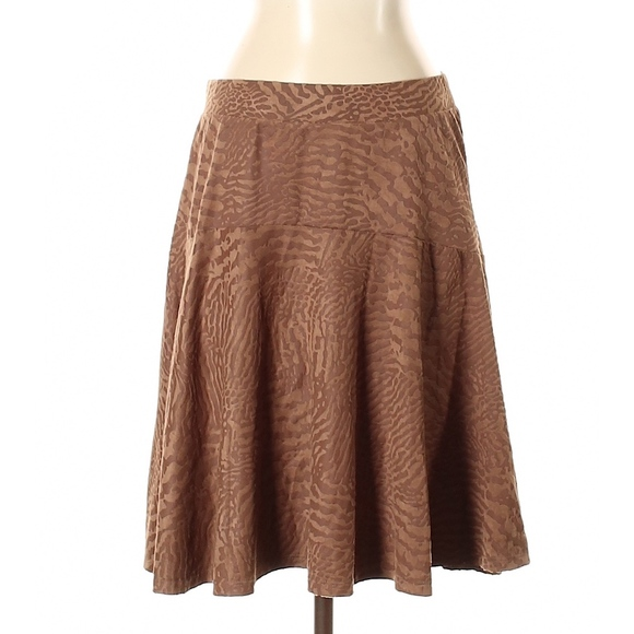 Melissa Paige Dresses & Skirts - Melissa Paige Brown Faux Suede Skirt New